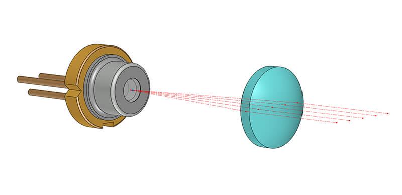 Laser Diode With Aspheric Lens